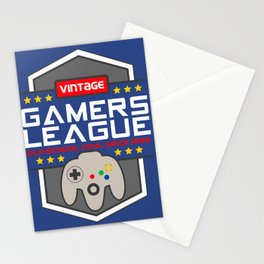 Geeky Gamer Chic Classic Vintage Gaming N64 Inspired Vintage Gamer League Old School Cool Stationery Cards