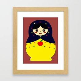Snow White Nesting Doll Framed Art Print