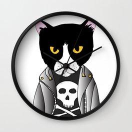Punk Cat Wall Clock