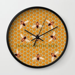 Dances With Bees Wall Clock