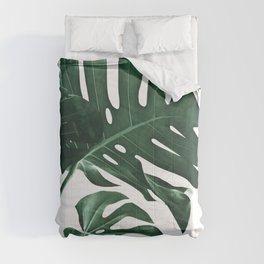 Tropical Monstera Finesse #1 #minimal #decor #art #society6 Comforters