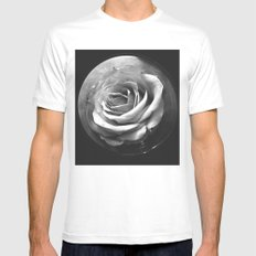 MOON ROSE Mens Fitted Tee White MEDIUM
