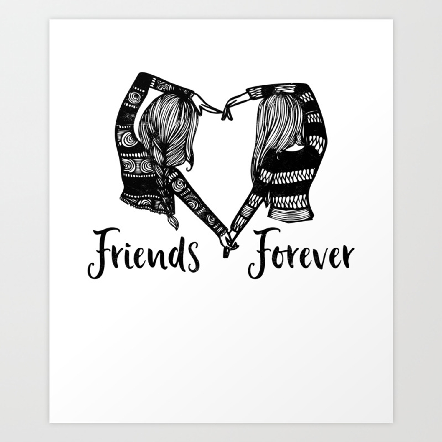 best friend quote tee shirt cute bff friends forever friendship