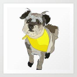 Thor the Rescue Dog Art Print