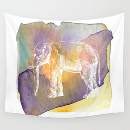 Color Spot Safari Elephant Wall Tapestry
