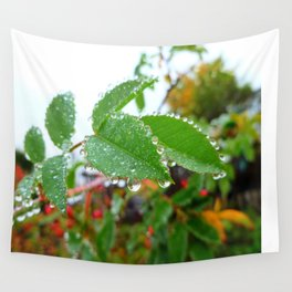 Nature's Beads of Beauty Wall Tapestry