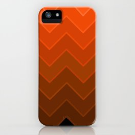 Gradient Orange Zig-Zags iPhone Case