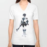 aqua V-neck T-shirts featuring Aqua by JHTY