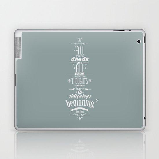 Albert Camus quotes Laptop & iPad Skin