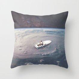 Rowing the Cosmos Throw Pillow