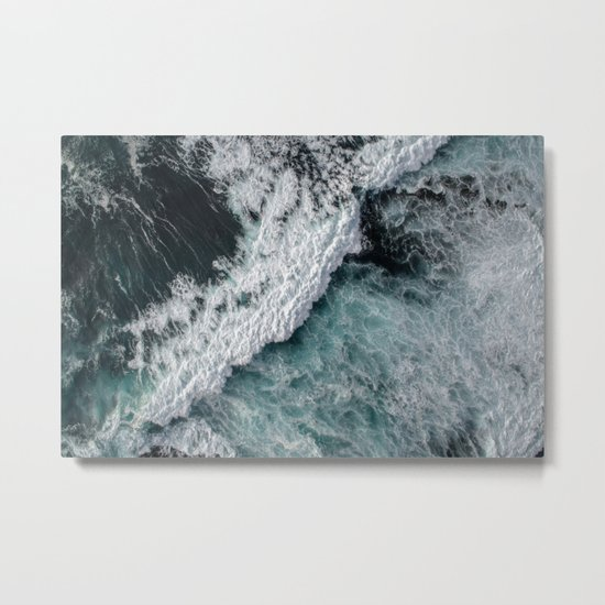 Ocean Wrath Metal Print