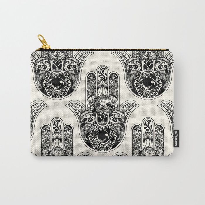 Hamsa Hand Sloth Carry-All Pouch