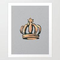 crown Art Prints featuring Crown by Kritika Kripakaran