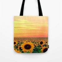 sunflower Tote Bags featuring Sunflower by Don't Be A Dick