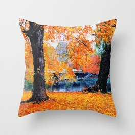 Boston, Panorama Throw Pillow