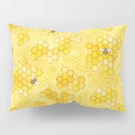 Meant to Bee - Honey Bees Pattern Pillow Sham