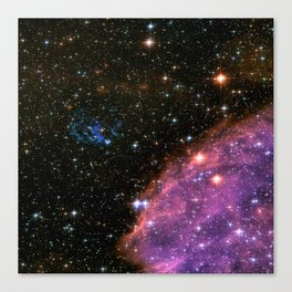Fireworks in Small Magellanic Cloud dwarf galaxy (NASA/ESA/Hubble) Canvas Print