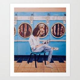 Laundry Day Blues Art Print