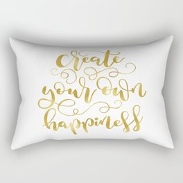 Create Your Own Happiness | Gold Palette Rectangular Pillow