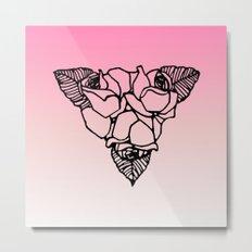 Art Nouveau Rose Trio Metal Print
