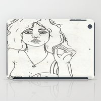 boob iPad Cases featuring Tired Eyes by Charlotte Anderson
