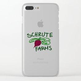 Schrute Farms Clear iPhone Case