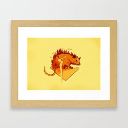 The Vermin: Possum Framed Art Print