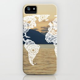 Lake View Map iPhone Case