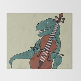 T-Rex Double Bass Throw Blanket