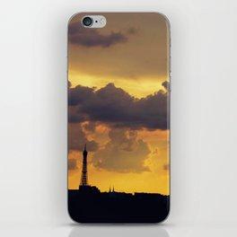 Sunset over Paris iPhone Skin