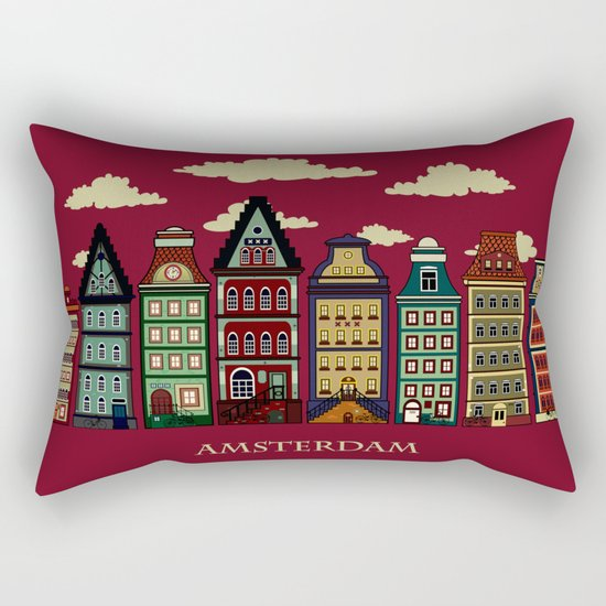 Amsterdam red Rectangular Pillow