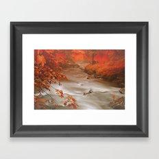 Fog-River Framed Art Print