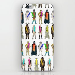 Naughty Lightsabers - Light iPhone Skin