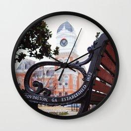 Covington, Georgia at Christmas Wall Clock