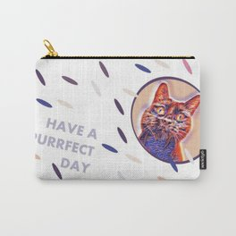 have a purrfect day (with cat) Carry-All Pouch