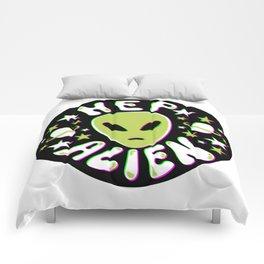 Hep Alien in 3D Comforters