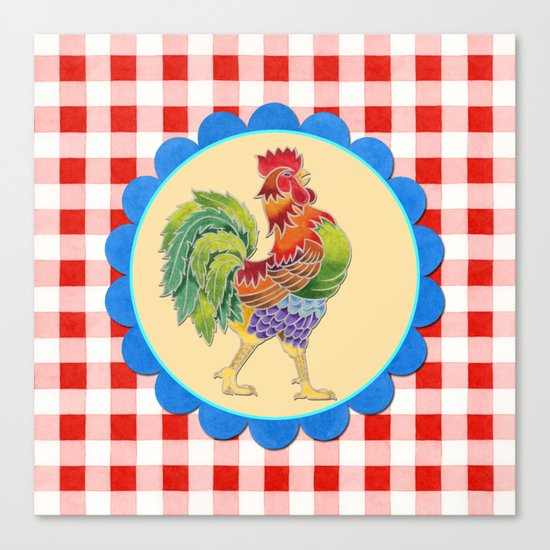 Rise and Shine Rooster Canvas Print