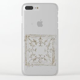Vintage Tin Sketch Clear iPhone Case