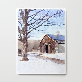 New England Winter Scene II Metal Print