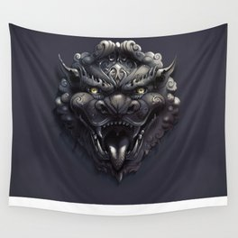 Foo Lion Dog Mask Wall Tapestry