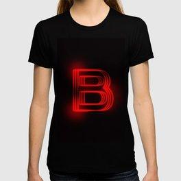 Red Neon B T-shirt