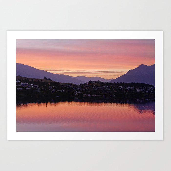 Queenstown nz art print