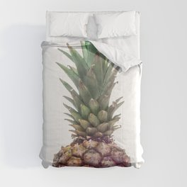 One Big Pineapple - white Background Comforters