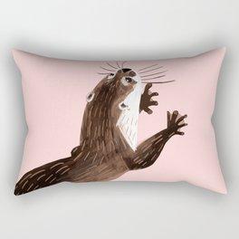 Asian small-clawed otter Rectangular Pillow