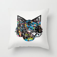 The Creative Cat (color varient) Throw Pillow