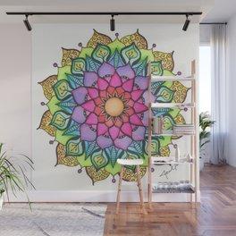 Mandala #14 - Rainbow - Original Wall Mural