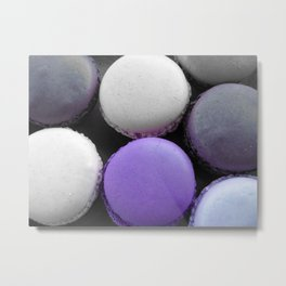 Macaroons Dark Purple Metal Print