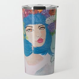 She chooses to see the World in bright bold colors Travel Mug