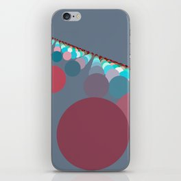 Floating Discs on Grey (A) iPhone Skin