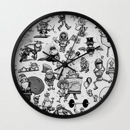 It's a Robot World B&W Wall Clock
